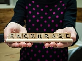 scrabble tiles with inspiration phrase
