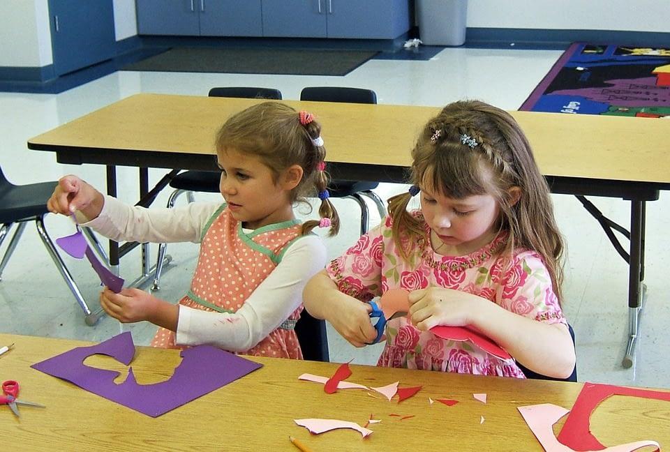 girls in a nursery class