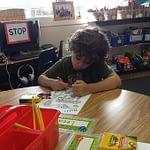 kid in a nursery class