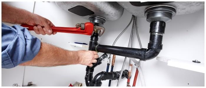 doing a plumbing job
